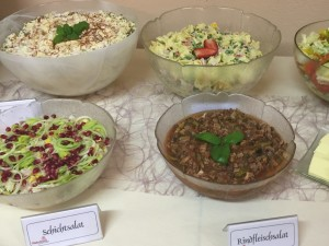 Vielfältige Salate